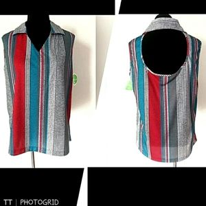 NWT 80s Vintage deadstock striped tank top